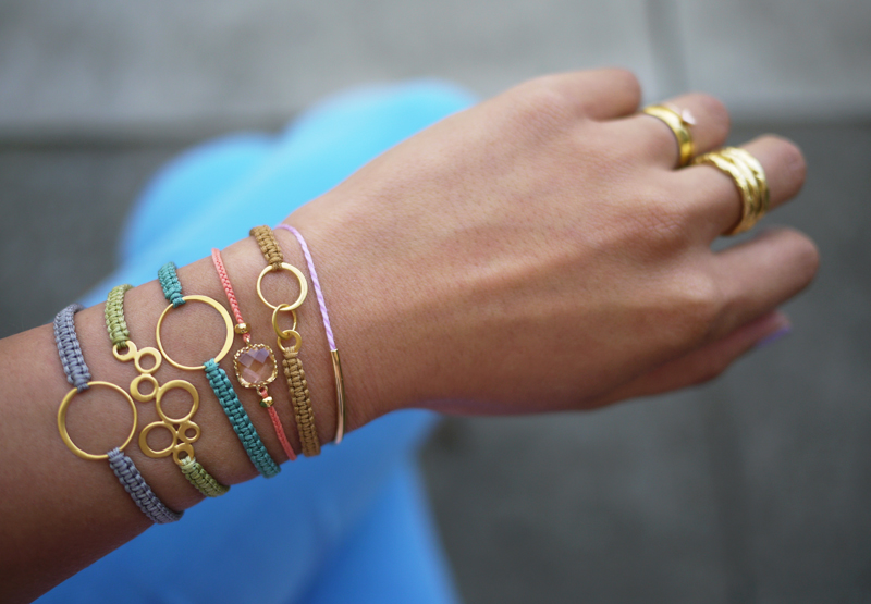 50 Easy Handmade Gift Ideas You'll Love: DIY Macrame Bracelets from Honestly WTF