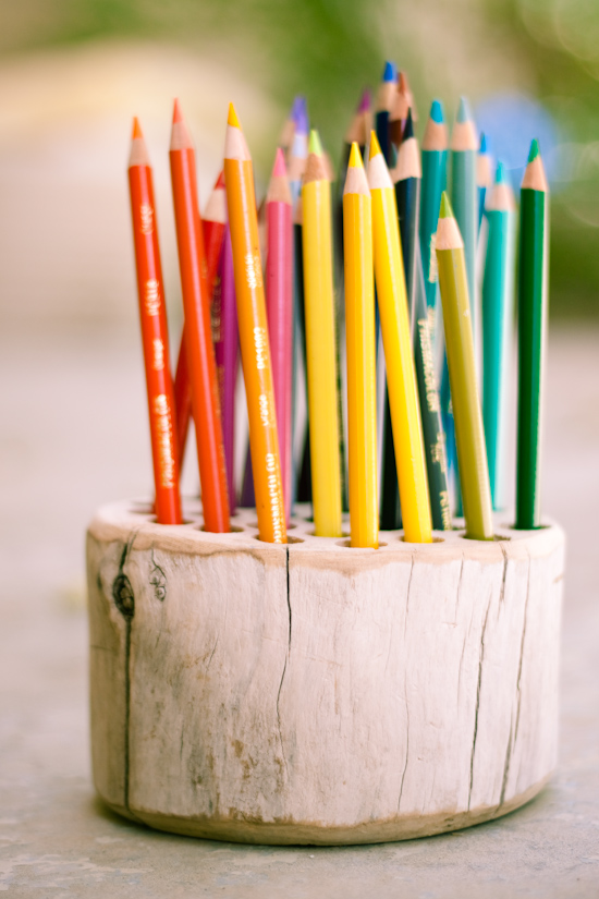 50 Easy Handmade Gift Ideas You'll Love: DIY Wood Slice Pencil Holder from Strawberry Chic