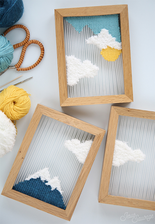 50 Easy Handmade Gift Ideas You'll Love: DIY Woven Landscapes from Jesus Sauvage