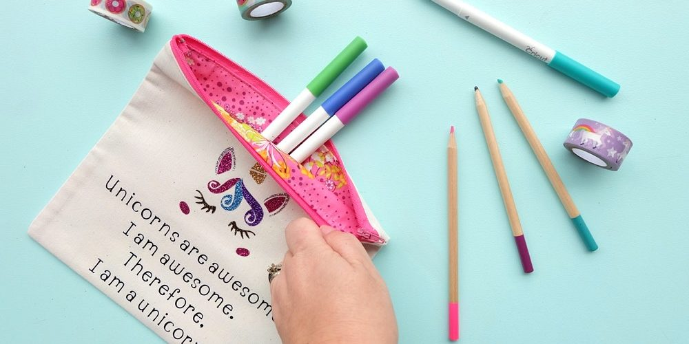 DIY Unicorns Are Awesome Pencil Pouch Sewing Project