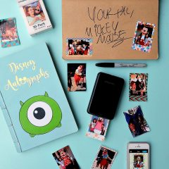 DIY Disney Autograph Book With Photo Stickers + Giveaway For Polaroid Zip Mobile Printer