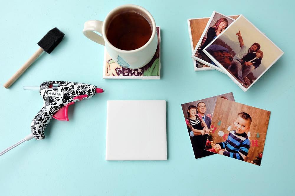 how to make easy diy photo coasters hello creative family