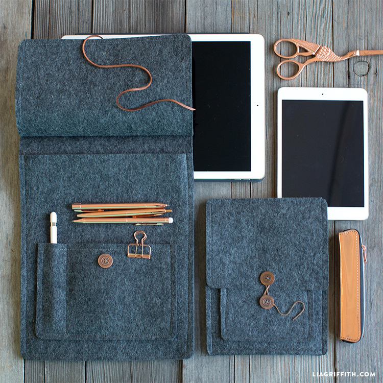 50 Easy Handmade Gift Ideas You'll Love: DIY Felt Tablet Cover from Lia Griffith