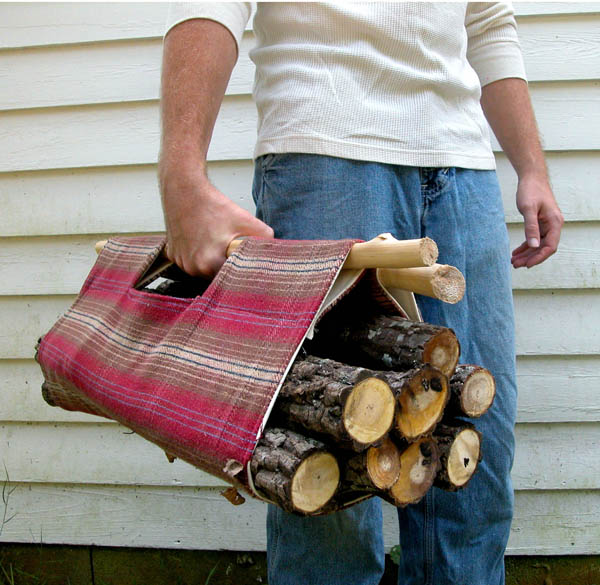 50 Easy Handmade Gift Ideas You'll Love: Firewood Tote from We Wilsons