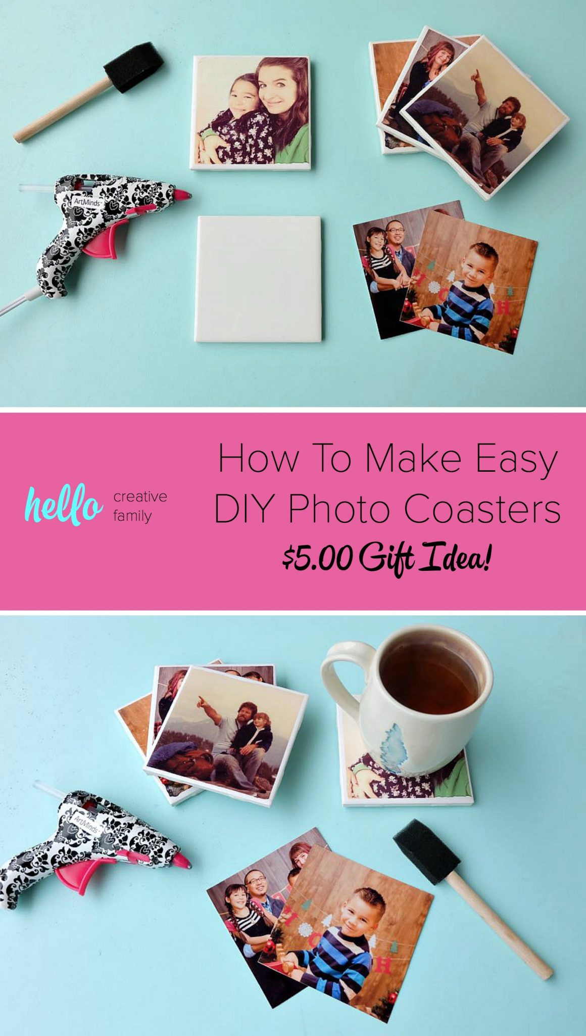 Diy emoji easter eggs with free printable hello creative family turn your favorite family photos into gorgeous diy photo coasters this project is an easy negle Choice Image