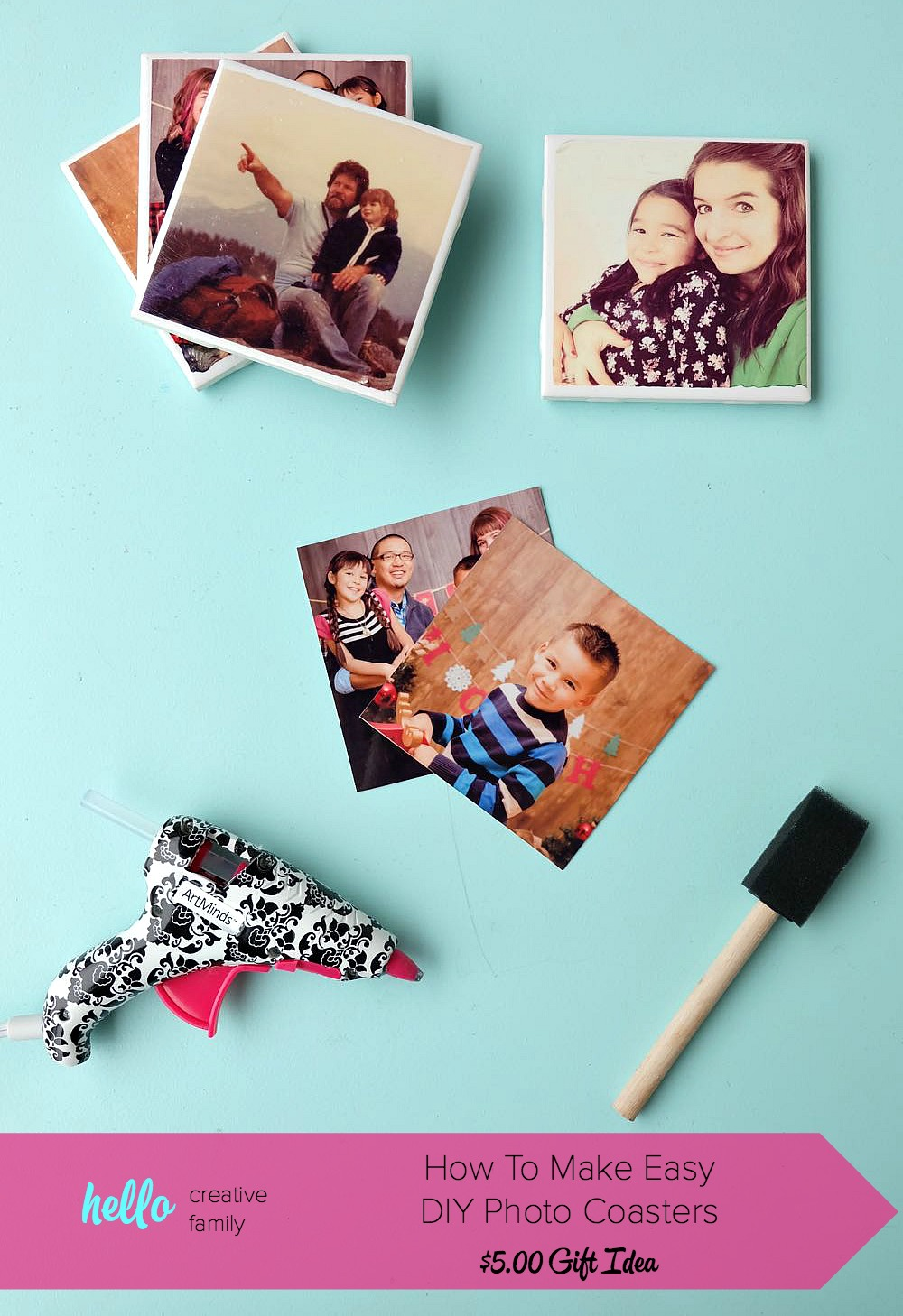 How To Make Easy Diy Photo Coasters Hello Creative Family