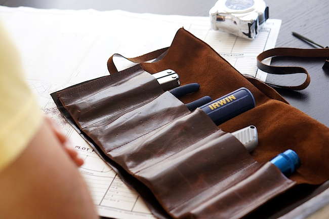 50 Easy Handmade Gift Ideas You'll Love: DIY Leather Tool Roll from Caila Made