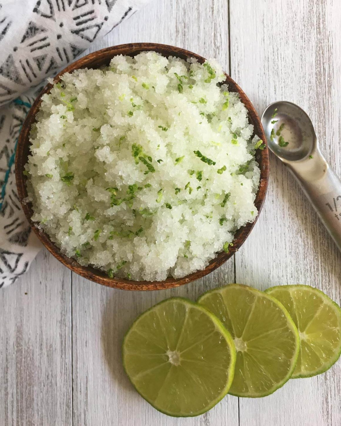 50 Easy Handmade Gift Ideas You'll Love: Lime Sea Salt Body Scrub from The Crunchy Chronicles