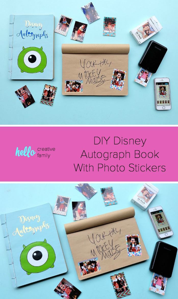 graphic relating to Printable Disney Autograph Book identified as Do it yourself Disney Autograph E-book With Image Stickers- Howdy