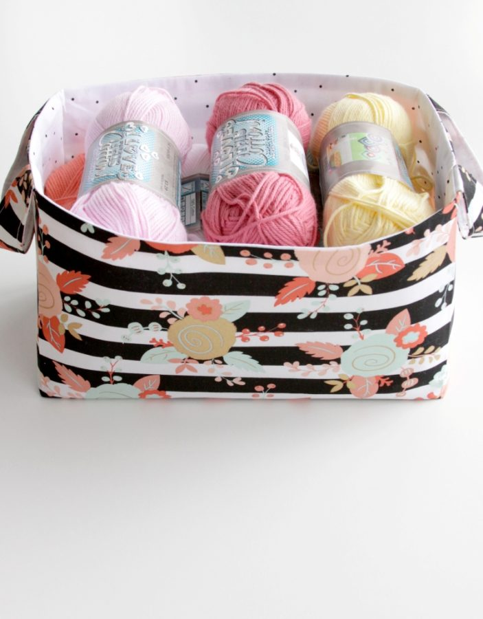 50 Easy Handmade Gift Ideas You'll Love: Simple and Sweet 30 Minute Fabric Basket from Flamingo Toes