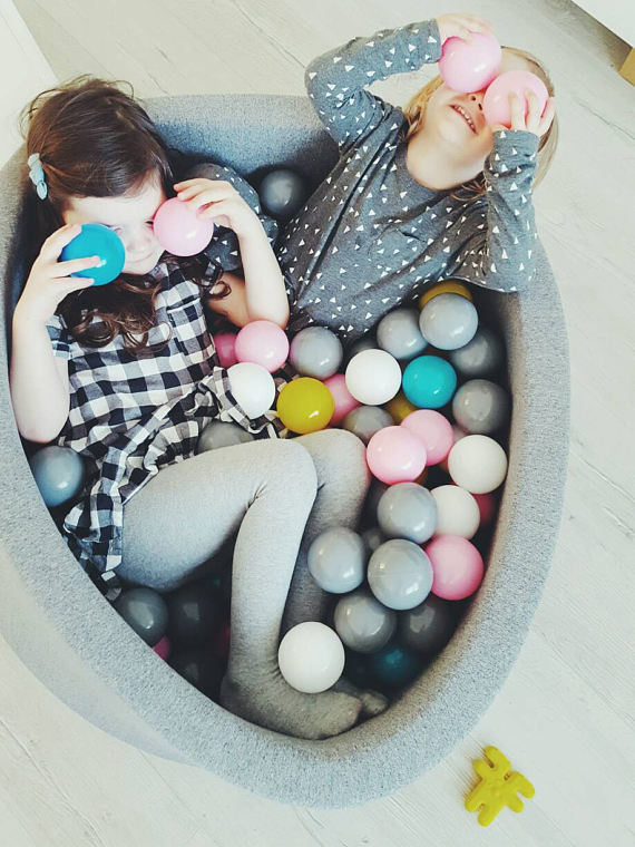 Handmade Holiday Gift Guide Gifts For Kids: Children's Ball Pit from Milky Bubble Kids