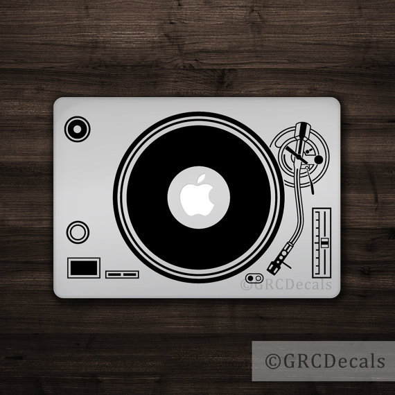 Handmade Holiday Gift Guide Gifts For Him: DJ Laptop Decal from GRC Decals