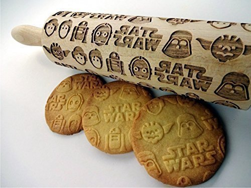Handmade Holiday Gift Guide Gifts For Him: Embossing Star Wars Rolling Pin from Sun Crafts
