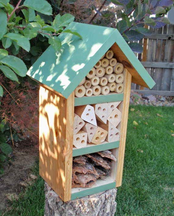 Handmade Holiday Gift Guide Gifts For Kids: Handmade Beneficial Bug House from Persnickety Home Designs