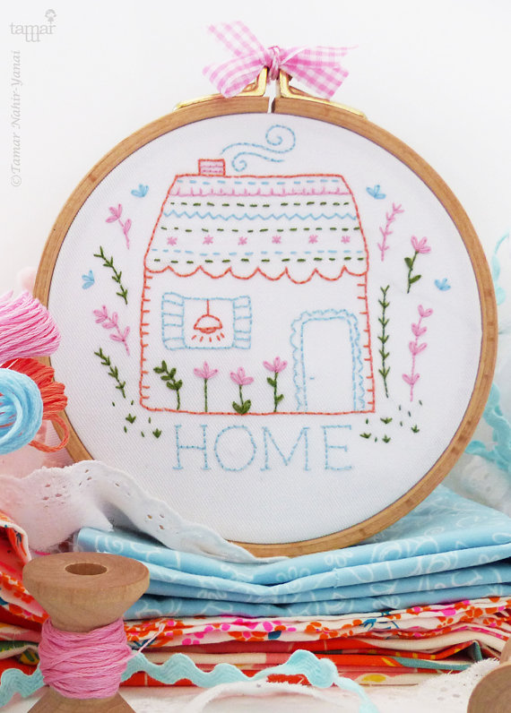 Handmade Holiday Gift Guide Gifts For Her: Home Beginner Embroidery Kit from Tamar Nahir Yanai
