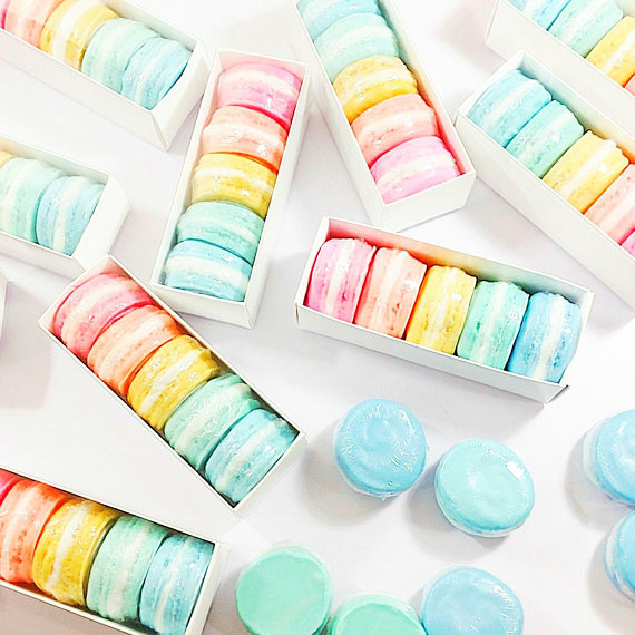Handmade Holiday Gift Guide Gifts For Her: Macaron Soap Gift Set from Sunbasil Soap