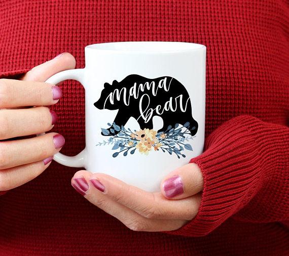 Handmade Holiday Gift Guide Gifts For Her: Mama Bear Mug from Zookaboo