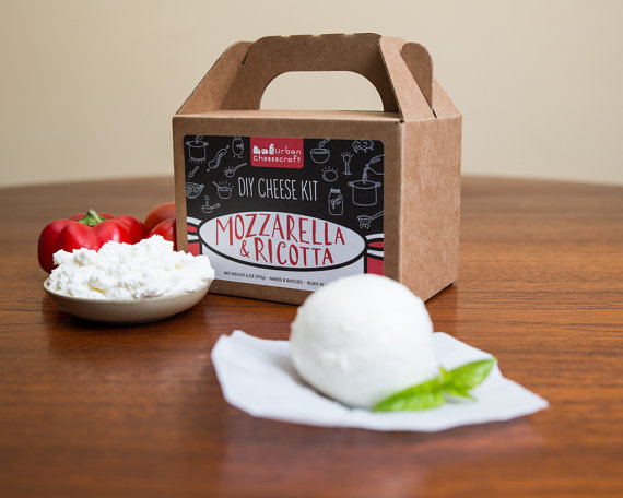 Handmade Holiday Gift Guide Gifts For Her: Mozzarella and Ricotta Cheese Kit from Urban Cheesecraft