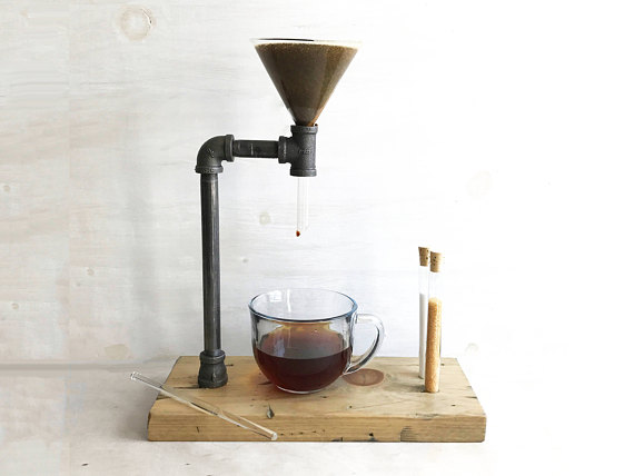Handmade Holiday Gift Guide Gifts For Him: Pour Over Coffee Maker from Iron and Sprout
