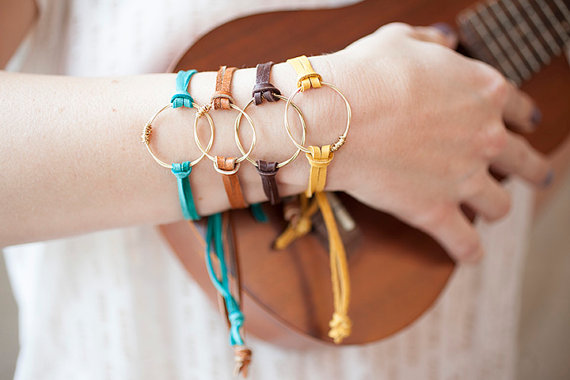 Handmade Holiday Gift Guide Gifts For Her: Recycled Guitar String Bracelet from Restrung