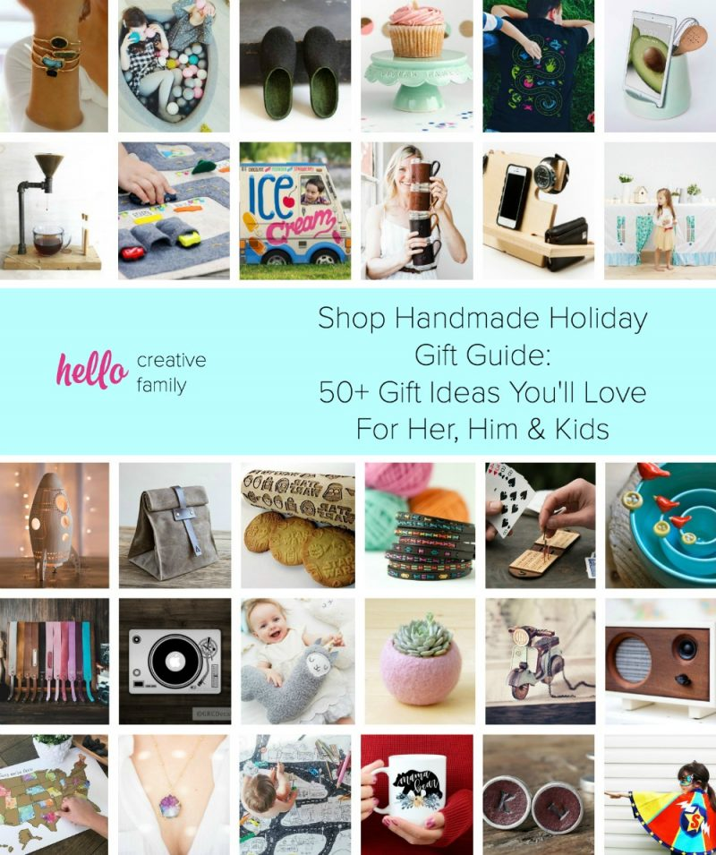 Handmade Christmas Gifts For Kids: Shop Handmade Holiday Gift Guide: 50+ Ideas For Her, Him