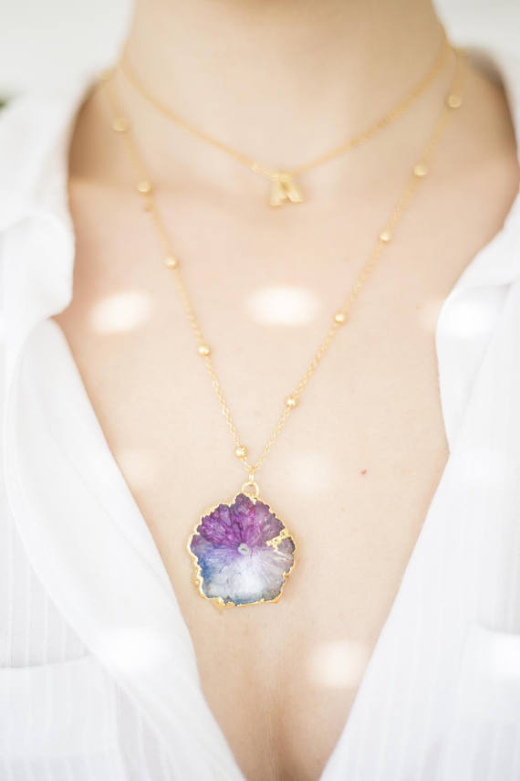 Handmade Holiday Gift Guide Gifts For Her: Solar Quartz Necklace from Oliki