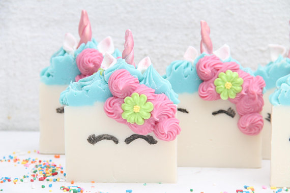 Handmade Holiday Gift Guide Gifts For Kids: Unicorn Soap from Kismibella