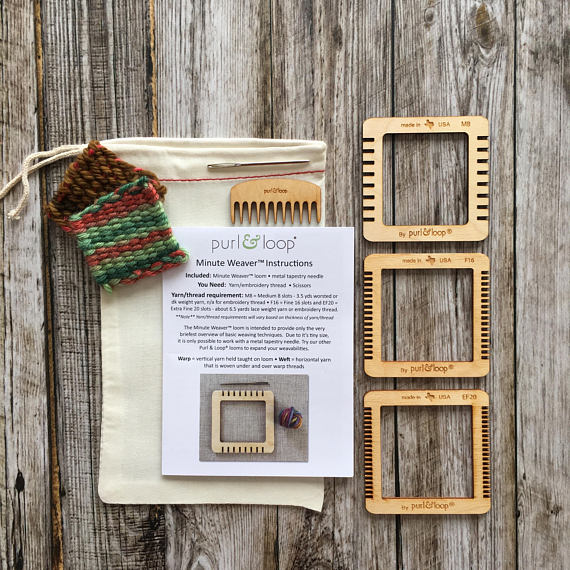 Handmade Holiday Gift Guide Gifts For Kids: Weaving Kit from Purl & Loop