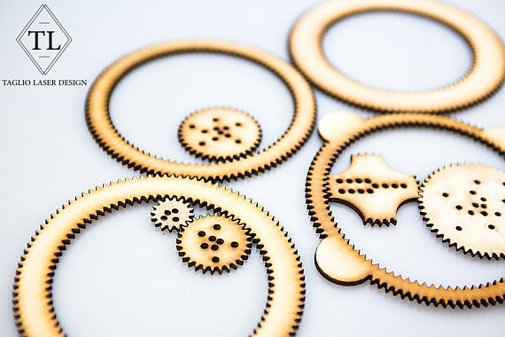 Handmade Holiday Gift Guide Gifts For Kids: Wooden Spirograph from Taglio Laser Design
