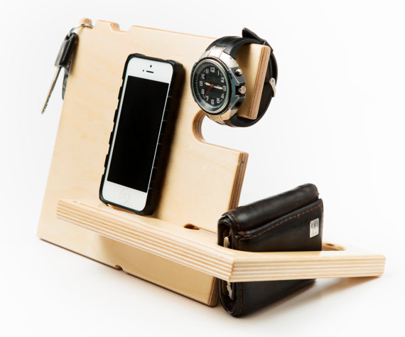 Handmade Holiday Gift Guide Gifts For Him: iphone docking station from Jigsaw Furnishings