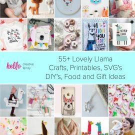55+ Lovely Llama Crafts, Printables, SVG's DIY's, Food and Gift Ideas #Crafts #DIY #Printables #GiftIdeas #llama