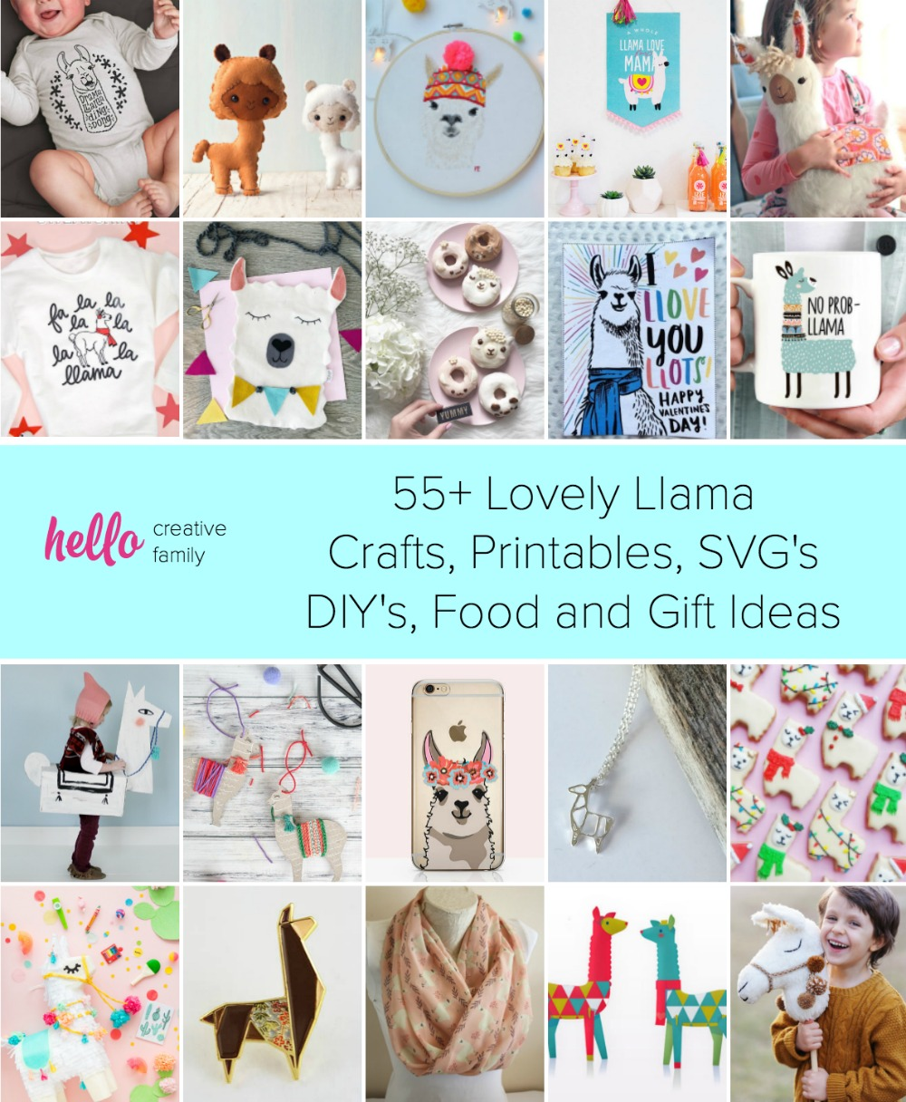 photo regarding Diy Printables titled 55+ Beautiful Llama Crafts, Printables, SVGs DIYs, Meals and