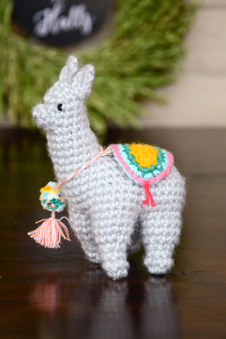 50+ Lovely Llama Crafts, Printables, SVG's DIY's, Food and Gift Ideas: Amigurumi Falalala Llama Crochet Pattern from Picot Pals