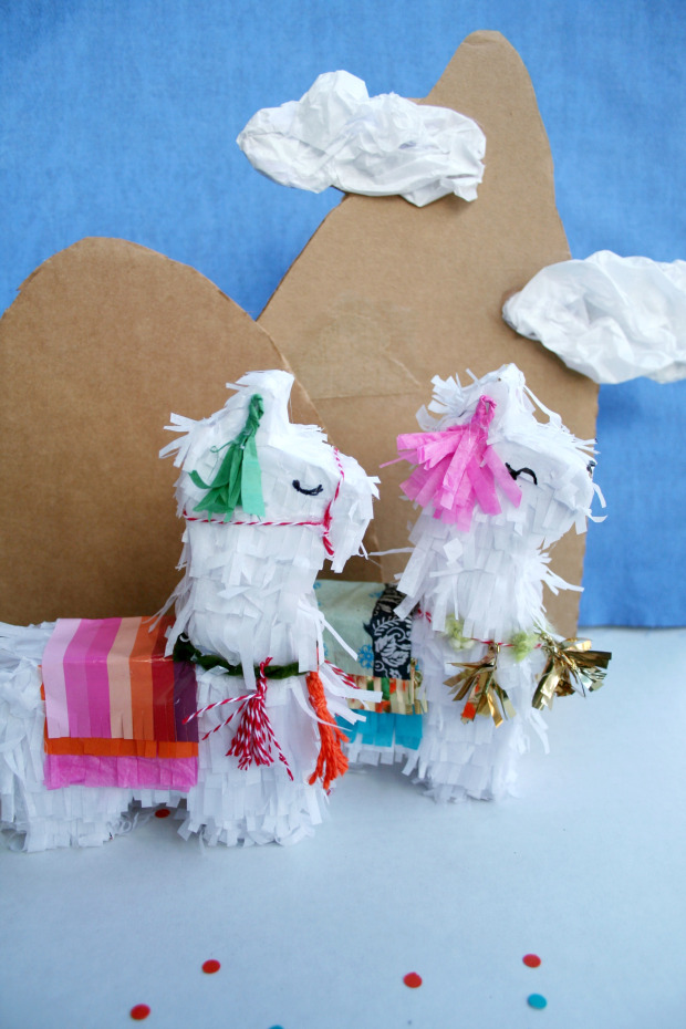 50+ Lovely Llama Crafts, Printables, SVG's DIY's, Food and Gift Ideas: DIY Llama Piñata Tutorial from The Brookhaven House