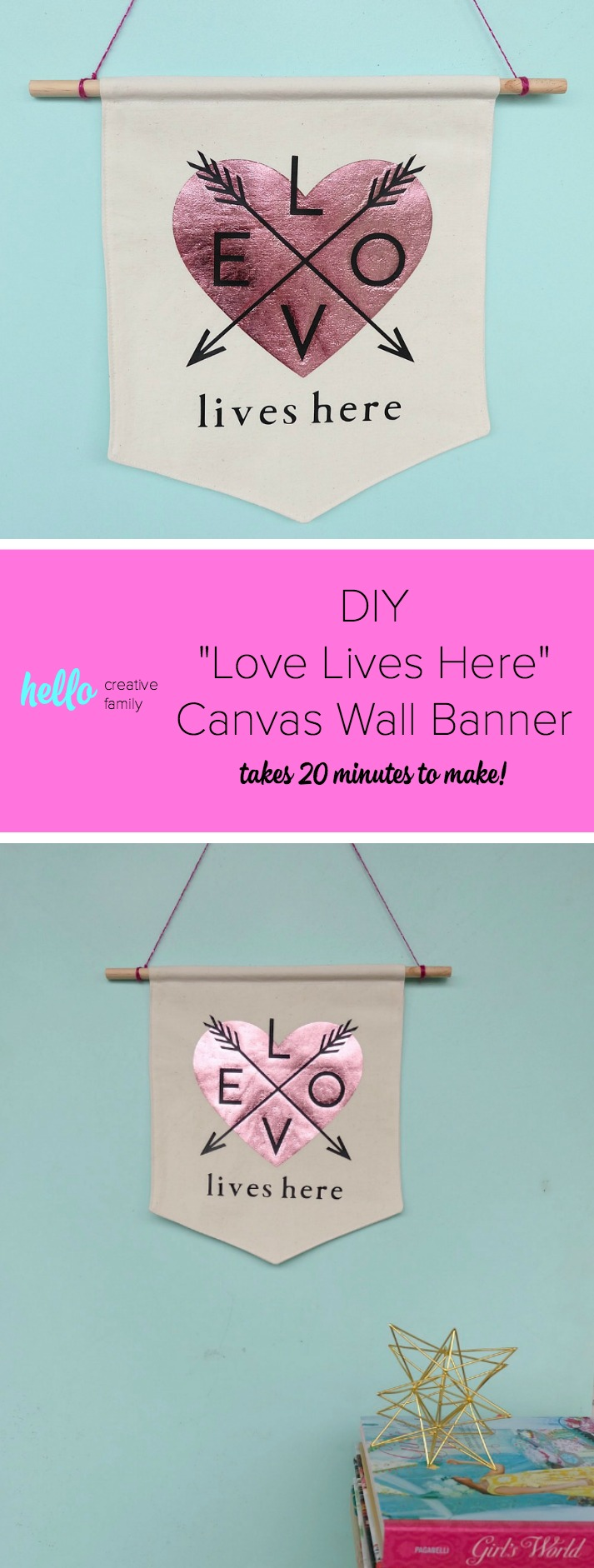diy canvas wall banner 20 minute sewing tutorial