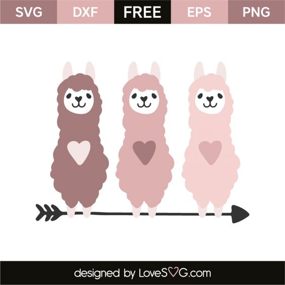 50+ Lovely Llama Crafts, Printables, SVG's DIY's, Food and Gift Ideas: Heart Llama SVG from SVG Love