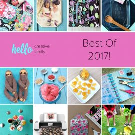 Counting down the top 12 Hello Creative posts from 2017! These crafts and recipes are guaranteed to spark creativity for your creative family!