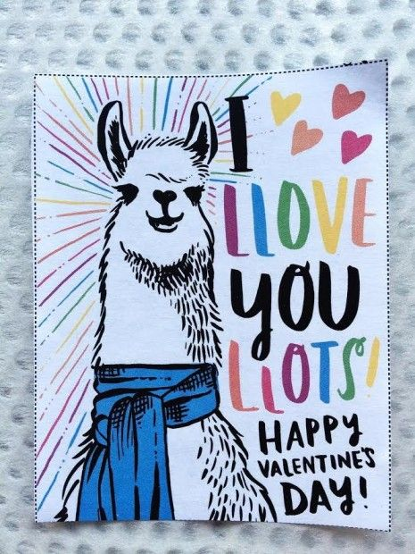50+ Lovely Llama Crafts, Printables, SVG's DIY's, Food and Gift Ideas: I Love You Lots Llama Card Printable from Creative Live
