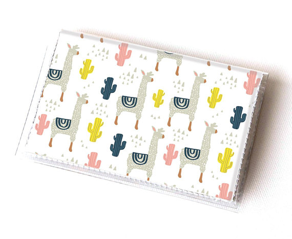 50+ Lovely Llama Crafts, Printables, SVG's DIY's, Food and Gift Ideas: Llama Card Holder from Dear Sukie