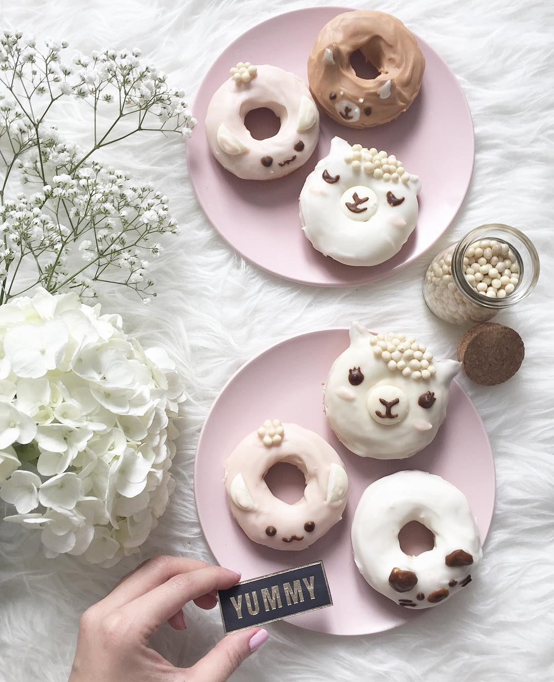 50+ Lovely Llama Crafts, Printables, SVG's DIY's, Food and Gift Ideas: Llama Donuts from Burberrie Jam on Instagram