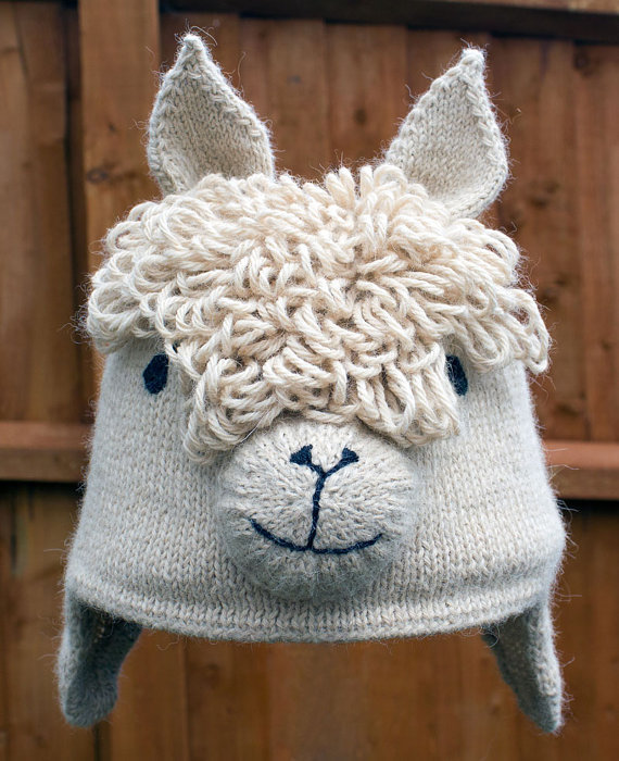 50+ Lovely Llama Crafts, Printables, SVG's DIY's, Food and Gift Ideas: Llama Hat Knitting Pattern from West Wight Alpacas