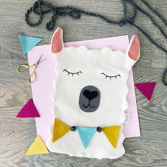 50+ Lovely Llama Crafts, Printables, SVG's DIY's, Food and Gift Ideas: Llama Pillow from Made By Song