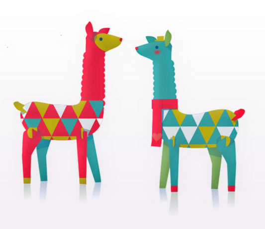 50+ Lovely Llama Crafts, Printables, SVG's DIY's, Food and Gift Ideas: Llama Printable Ornament Kit from Happy Thought