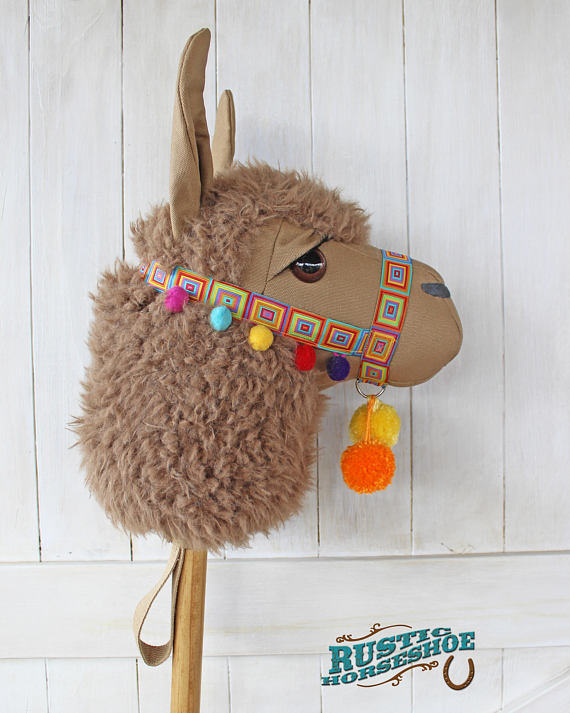 50+ Lovely Llama Crafts, Printables, SVG's DIY's, Food and Gift Ideas: Llama Ride On Toy Sewing Pattern from The Rustic Horseshoe