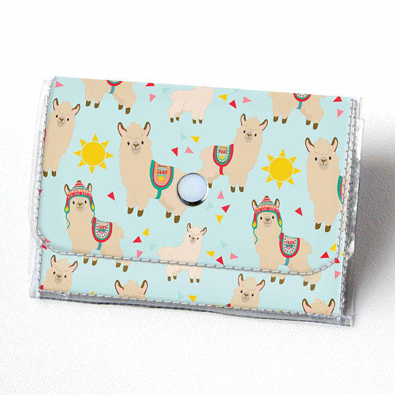 50+ Lovely Llama Crafts, Printables, SVG's DIY's, Food and Gift Ideas: Llama Wallet from Dear Sukie