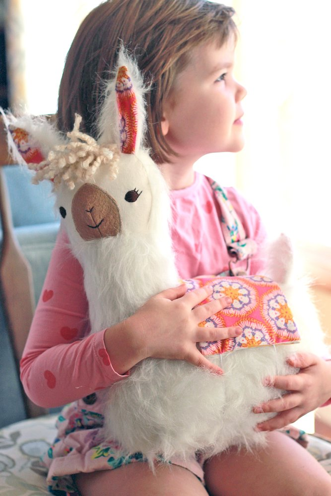 50+ Lovely Llama Crafts, Printables, SVG's DIY's, Food and Gift Ideas: Lulu Llama Sewing Pattern from Ginger Cake
