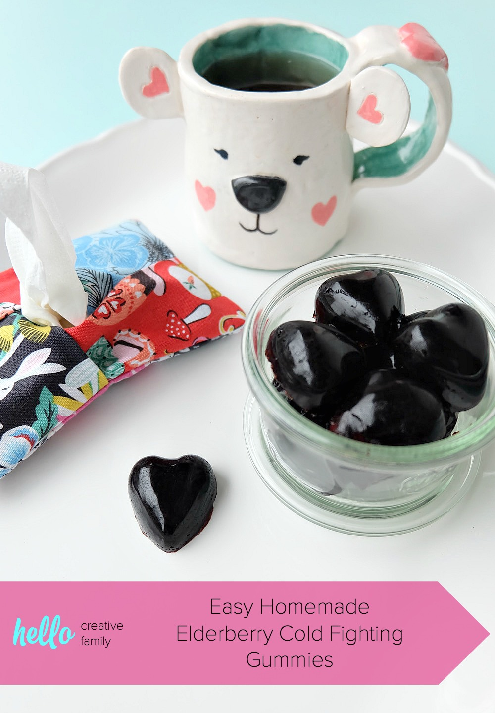 Sooth a sore throat and eliminate cold and flu symptoms with this easy, DIY cold remedy! This Easy Homemade Elderberry Cold Fighting Gummies recipe is great for cold prevention, boosting the immune system, soothing sore throats and helping your body kick a cold fast! Perfect for kids and adults! Also includes a recipe for elderberry syrup. #Recipe #Health #healthandwellness #DIY