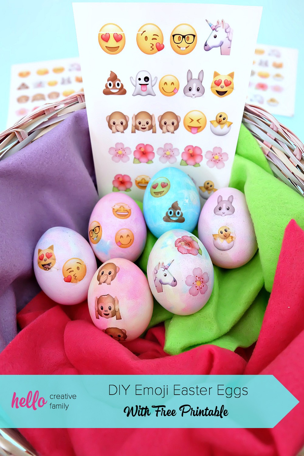 graphic regarding Printable Eggs identify Do-it-yourself Emoji Easter Eggs With Absolutely free Printable- Good day Inventive Family members