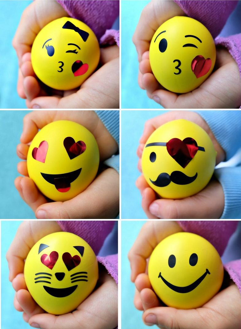 DIY Emoji Squishy Stress Balls Filled With Slime - Hello Creative Family