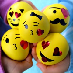 DIY Emoji Squishy Stress Balls Filled With Slime